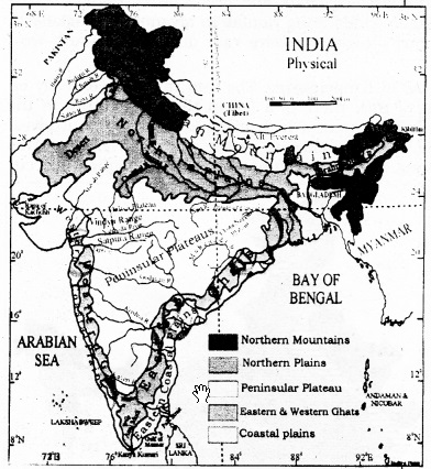 KSEEB SSLC Class 10 Geography Solutions Chapter 2 Indian Physiography 1