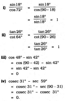 KSEEB SSLC Class 10 Maths Solutions Chapter 11 Introduction to Trigonometry Ex 11.3 Q 1.1