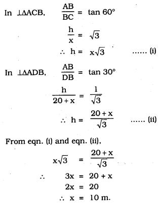 KSEEB SSLC Class 10 Maths Solutions Chapter 12 Some Applications of Trigonometry Ex 12.1 Q 11.1