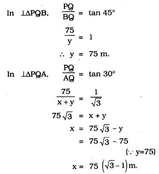 KSEEB SSLC Class 10 Maths Solutions Chapter 12 Some Applications of Trigonometry Ex 12.1 Q 13.1