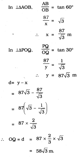 KSEEB SSLC Class 10 Maths Solutions Chapter 12 Some Applications of Trigonometry Ex 12.1 Q 14.1