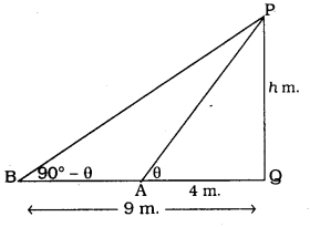 KSEEB SSLC Class 10 Maths Solutions Chapter 12 Some Applications of Trigonometry Ex 12.1 Q 16