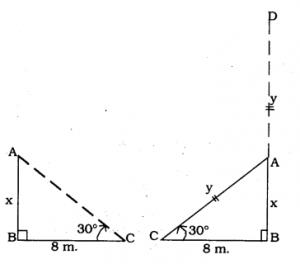KSEEB SSLC Class 10 Maths Solutions Chapter 12 Some Applications of Trigonometry Ex 12.1 Q 2