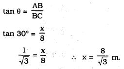 KSEEB SSLC Class 10 Maths Solutions Chapter 12 Some Applications of Trigonometry Ex 12.1 Q 2.1