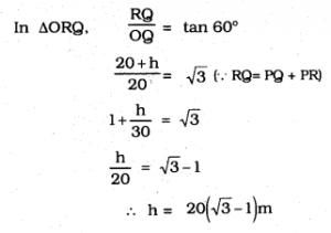 KSEEB SSLC Class 10 Maths Solutions Chapter 12 Some Applications of Trigonometry Ex 12.1 Q 7.2