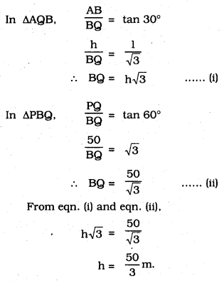 KSEEB SSLC Class 10 Maths Solutions Chapter 12 Some Applications of Trigonometry Ex 12.1 Q 9.1