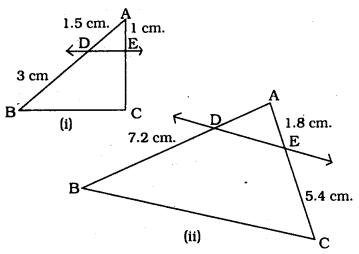 KSEEB SSLC Class 10 Maths Solutions Chapter 2 Triangles Ex 2.2 1