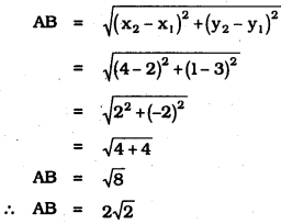 KSEEB SSLC Class 10 Maths Solutions Chapter 7 Coordinate Geometry Ex 7.1 1