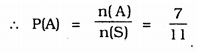 KSEEB Solutions for Class 9 Maths Chapter 15 Probability Ex 15.1 Q 11