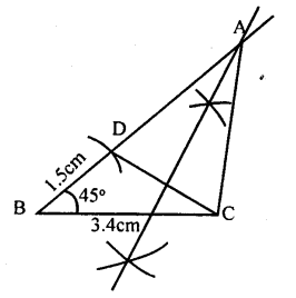 KSEEB Solutions for Class 8 Maths Chapter 12 Construction of Triangles Ex. 12.12 1