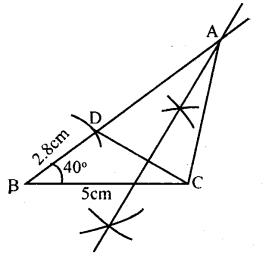 KSEEB Solutions for Class 8 Maths Chapter 12 Construction of Triangles Ex. 12.12 2