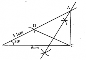 KSEEB Solutions for Class 8 Maths Chapter 12 Construction of Triangles Ex. 12.12 3