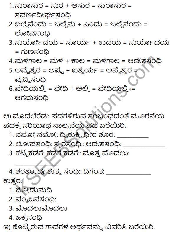 Shabari Lesson Story In Kannada KSEEB Solution