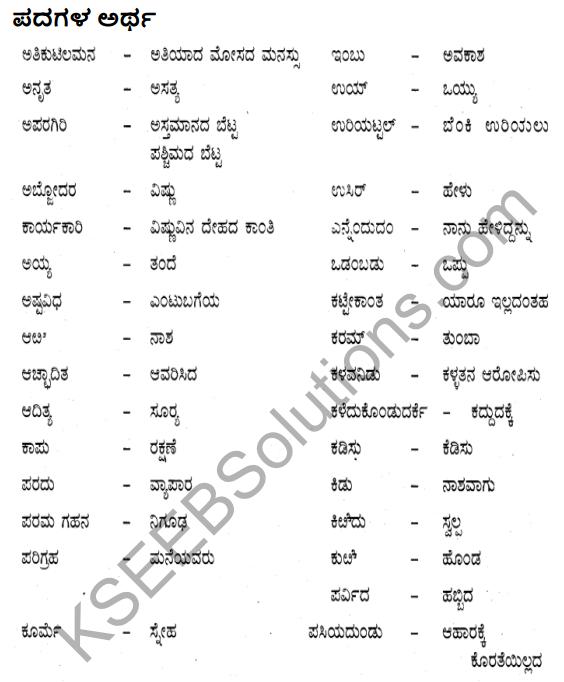 Siri Kannada Text Book Class 10 Solutions Gadya Chapter 7 Vruksha Sakshi 26
