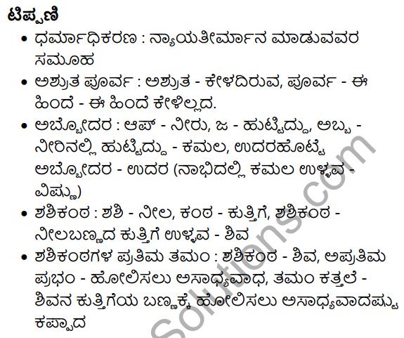 Siri Kannada Text Book Class 10 Solutions Gadya Chapter 7 Vruksha Sakshi 28