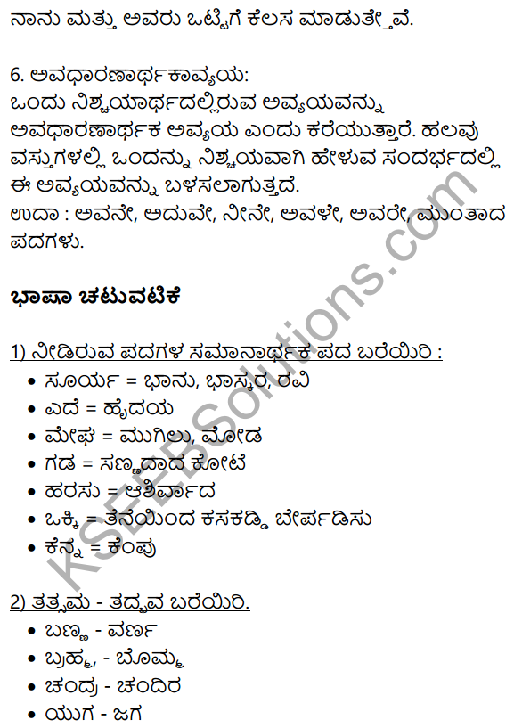 Kannada Hakki Harutide Nodidira Notes KSEEB Solution