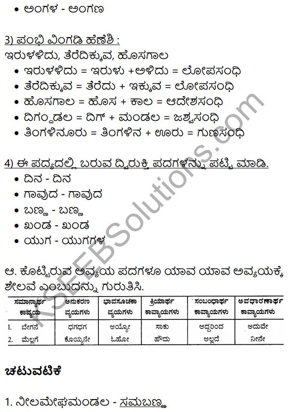 10th Class Kannada Hakki Harutide Nodidira Saramsha KSEEB Solution