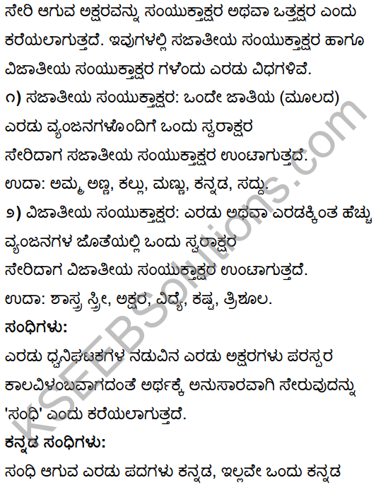 10th Tili Kannada Notes KSEEB Solutions
