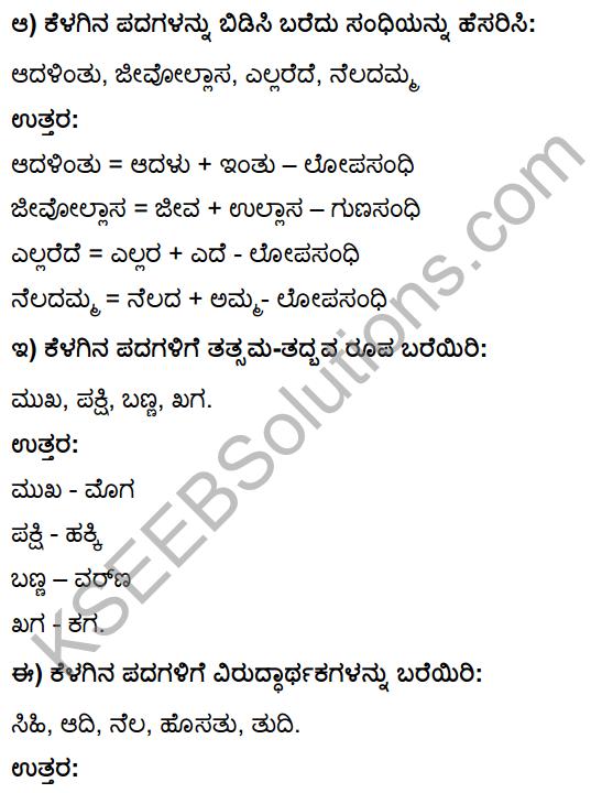 Tili Kannada Text Book Class 10 Solutions Padya Chapter 3 Savi Chaitra 15