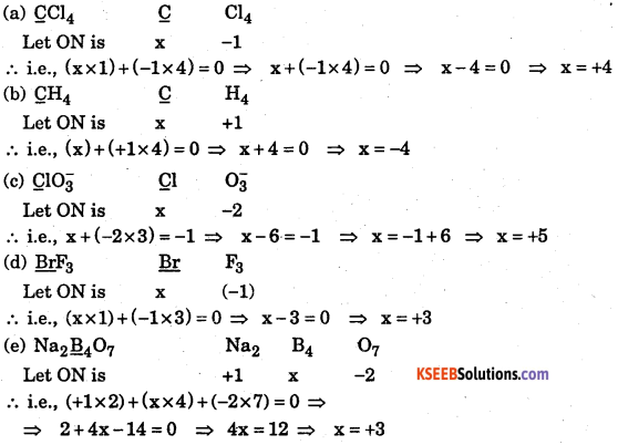 1st PUC Chemistry Question Bank Chapter 8 Redox Reactions - 125