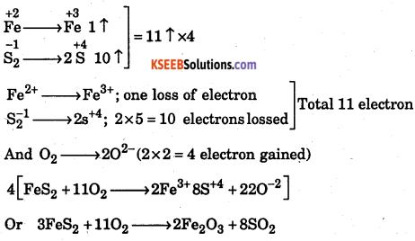 1st PUC Chemistry Question Bank Chapter 8 Redox Reactions - 18
