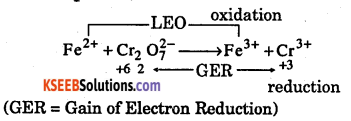 1st PUC Chemistry Question Bank Chapter 8 Redox Reactions - 25