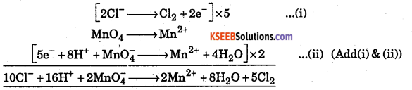 1st PUC Chemistry Question Bank Chapter 8 Redox Reactions - 6