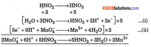1st PUC Chemistry Question Bank Chapter 8 Redox Reactions - 7