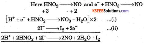 1st PUC Chemistry Question Bank Chapter 8 Redox Reactions - 8