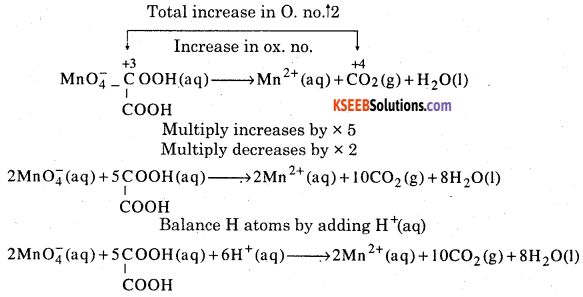 1st PUC Chemistry Question Bank Chapter 8 Redox Reactions - 80