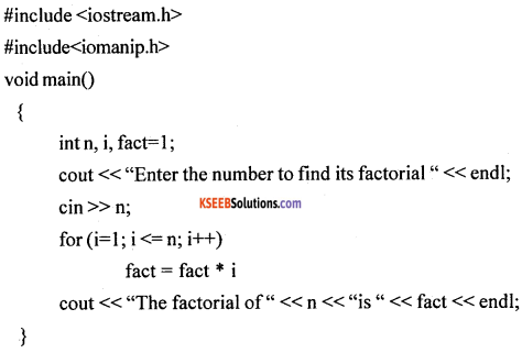 1st PUC Computer Science Model Question Paper 1 with Answers part B img 14