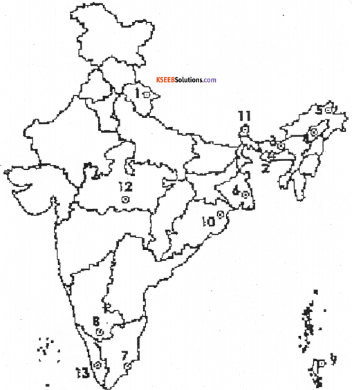 1st PUC Geography Model Question Paper 3 with Answers - 7