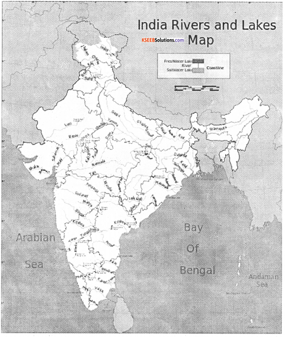 1st PUC Geography Previous Year Question Paper March 2016 (South) - 13