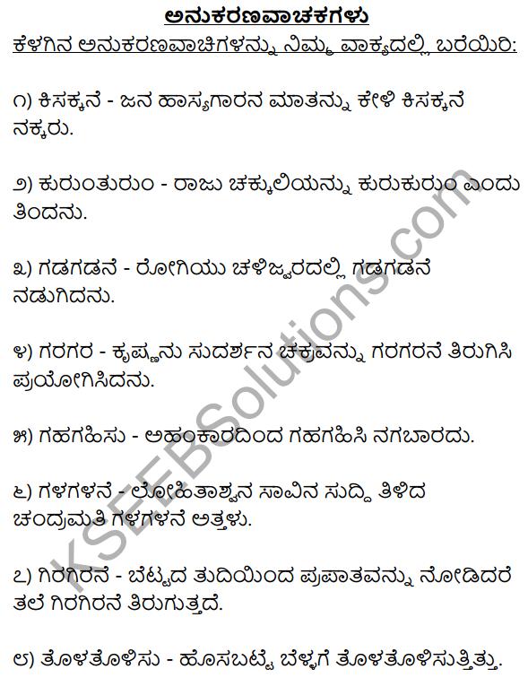 1st PUC Kannada Workbook Answers Anukaranavachigalu 1
