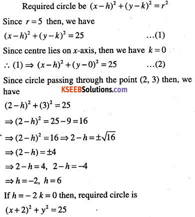 1st PUC Maths Question Bank Chapter 11 Conic Sections 13