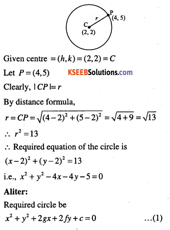 1st PUC Maths Question Bank Chapter 11 Conic Sections 18