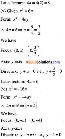 1st PUC Maths Question Bank Chapter 11 Conic Sections 26