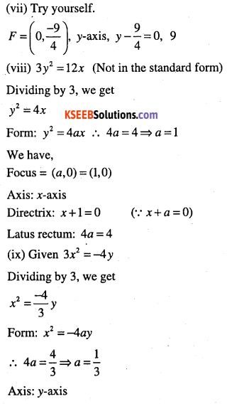 1st PUC Maths Question Bank Chapter 11 Conic Sections 27