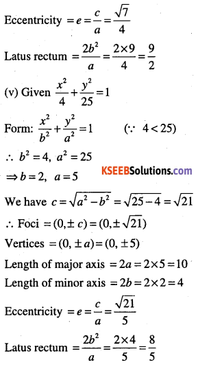 1st PUC Maths Question Bank Chapter 11 Conic Sections 46