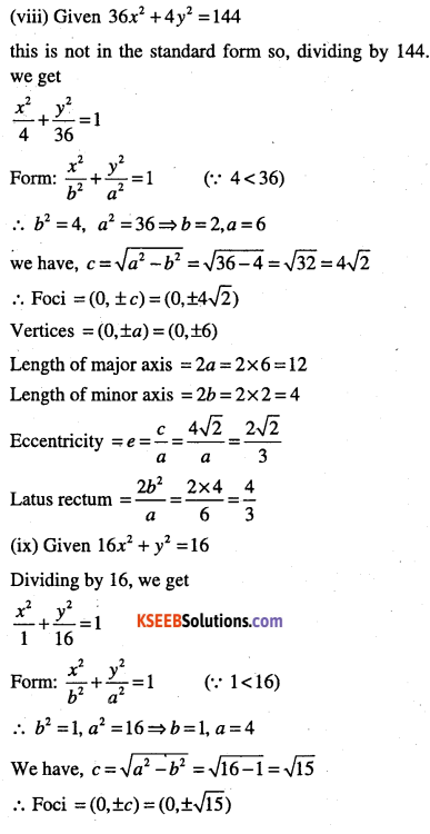 1st PUC Maths Question Bank Chapter 11 Conic Sections 49
