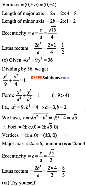 1st PUC Maths Question Bank Chapter 11 Conic Sections 50
