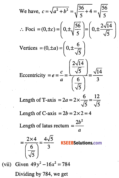 1st PUC Maths Question Bank Chapter 11 Conic Sections 72