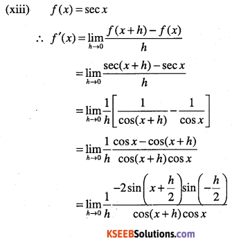 1st PUC Maths Question Bank Chapter 13 Limits and Derivatives 100