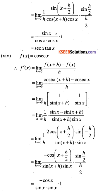 1st PUC Maths Question Bank Chapter 13 Limits and Derivatives 101