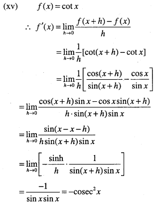 1st PUC Maths Question Bank Chapter 13 Limits and Derivatives 102