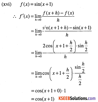 1st PUC Maths Question Bank Chapter 13 Limits and Derivatives 103