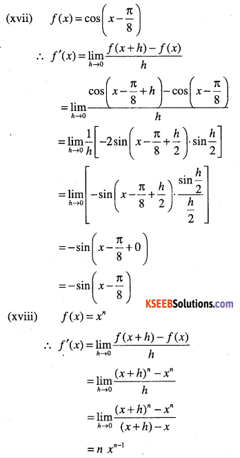 1st PUC Maths Question Bank Chapter 13 Limits and Derivatives 104