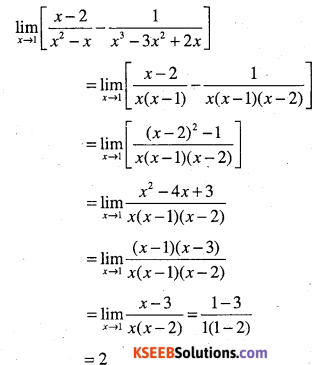 1st PUC Maths Question Bank Chapter 13 Limits and Derivatives 26