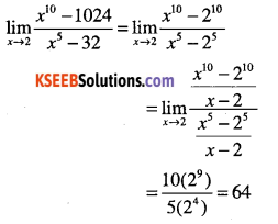 1st PUC Maths Question Bank Chapter 13 Limits and Derivatives 37