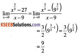 1st PUC Maths Question Bank Chapter 13 Limits and Derivatives 38